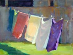 Impressionist Painting of Wash on a line - Google Search