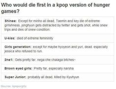 Kpop version of the hunger games BAHAHAHAHAHA!!!! Onew condition XDDDD & SuJu Kyuhyun