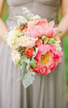 Oh So Pretty Maryland Wedding from Jodi Miller Photography - bridal bouquet Taupe Wedding, Mod Wedding, Floral Wedding, Dream Wedding, Taupe Bridesmaid Dresses, Bridesmaid Bouquet, Bridesmaids, Bride Bouquets, Flower Bouquet Wedding