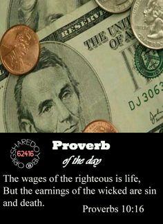 PROVERBS 10:16