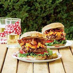 Pimiento Cheese-Bacon Burgers   MyRecipes.com
