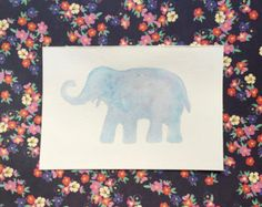 Elephant Silhouette by NatsVogueCrafts on Etsy