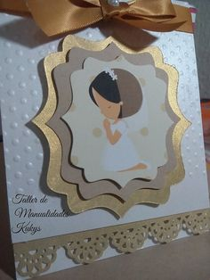 See all these amazing ideas for first communion, which you can use for boy and girl, cake proposals, invitations and more . First Communion Cards, Communion Gifts, First Holy Communion, Invitation Ticket, Diy Invitations, Communion Invitations, Card Tags, Baby Cards, Christening