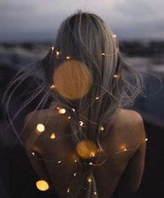 Fairylights in hair
