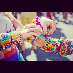 when was your #firstkanditrade ??? how did this make you feel ?? getting a  gift from a special soul  is not just a peice of #kandi its a reminder of a great night dancing the night away with your #plurfamily and keeping positive energy the whole time .  having that same intrest immediately brings everyone closer  plz follow me and send in pics for #shoutouts and get closer with your rave buddies even find the ones you remember !! #raves #raveready #rage #edm #edc #etc #unity #plur #plurfam…