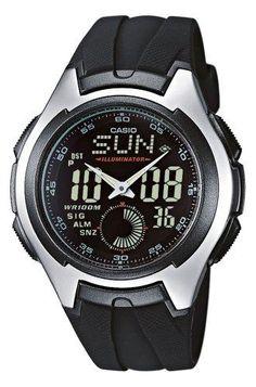 Oferta: 36.95€ Dto: -30%. Comprar Ofertas de Casio CASIO Collection - Reloj analógico - digital de caballero de cuarzo con correa de resina negra (cronómetro, alarma, luz barato. ¡Mira las ofertas!