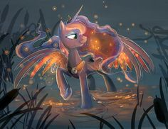 Fireflies by ~BlitzPony on deviantART - Princess Luna, Ponies, My Little Pony, Friendship is Magic