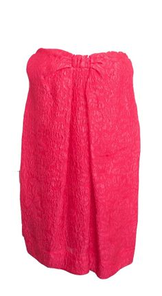 BCBG MAX AZRIA BOW SHOCKING PINK A-LINE FLORAL EMBOSSED STRAPLESS DRES – London Couture