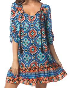 """Tolani Devina dress in blue - All Dresses - Clothing - Birdmotel Online Store  The vibrant colours and prints are a signature of the brand, often seen worn by celeb """"it"""" girls and style icons around the globe."""