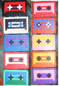 casettes hama perler beads