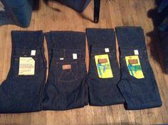 82176c50 Maverick flare leg indigo sanforized denim unwashed rigid jeans made USA  men's high waist 1970 pick 1 wear sneakers t shirt shoes boots coat