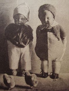 a sweet pair of early kathe kruse dolls