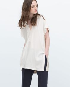 TWO - TONE TUNIC - Blouses - Tops - WOMAN | ZARA United States