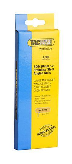 Tacwise 0824 Bo/îte de 5000 Clous galvanis/és pour Cloueur en bande 25 mm Type 500