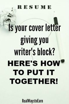Is your cover letter giving you writer's block? Cover Letter Layout, Cover Letter Help, Best Cover Letter, Writing A Cover Letter, Cover Letter For Resume, Cover Letters, Resume Tips, Resume Ideas, Sample Resume