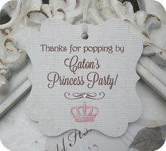 Personalized Princess Crown Thank You by LittlePaperFarmhouse, $7.50