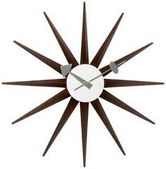 Vitra 20125303 Wanduhr Sunburst Clock 470 mm walnuss