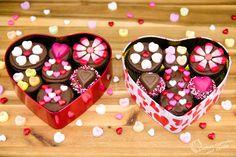 Box of Chocolates Valentine's Day Cupcakes Tutorial - - Cookies, Cupcakes, and Cardio