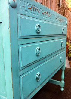 Fabulous Victorian shabby chic painted by Louisagraceinteriors, £220.00