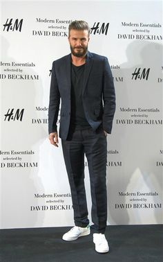 David Beckham launches Modern Essentials by H&M in Madrid, Spain on March 20, 2015.