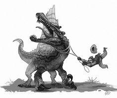 Taming a wild Spinosaurus
