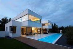 moderne woningen met plat dak - Bing images