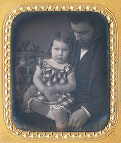 """daguerreotypeimages: """" LOOKING DOWN! My first phrase has a double meaning folks! One is quite obvious, but unless you are holding the electroplated sixth size masterpiece in your hands, admiring father and daughter archivally sealed underneath the. Antique Photos, Vintage Photographs, Vintage Images, Old Pictures, Old Photos, Post Mortem Photography, Vintage Mermaid, Fathers Love, Beautiful Children"""