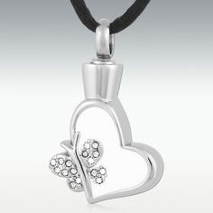 Butterfly Lover Stainless Steel Cremation Jewelry - Engravable