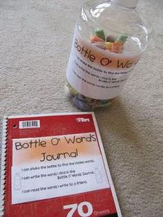 Literacy Center Activities: Bottle 'O Words