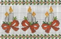 Border with Christmas candles cross stitch pattern - free cross stitch patterns crochet knitting amigurumi Cross Stitch Christmas Cards, Xmas Cross Stitch, Cross Stitch Cards, Cross Stitch Borders, Christmas Cross, Cross Stitch Designs, Cross Stitching, Cross Stitch Embroidery, Embroidery Patterns