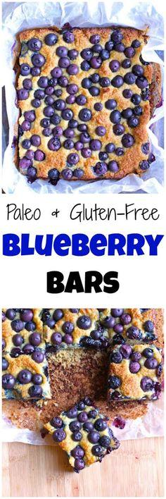 Paleo Blueberry Bars