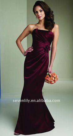 Image detail for -Wine Color Mermaid Bridesmaid Dresses,View Mermaid Bridesmaid Dresses ...