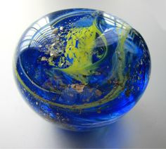 Spinning Planet Glass Paperweight by nautical2004 on Etsy