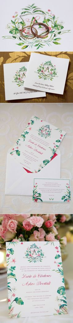 hand painted wedding crest and invite design #customcrest #handpainted #wedding…