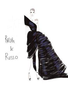Ralph & Russo – le Show Ralph Et Russo, Le Show, Drawing Sketches, Drawings, Fashion Sketches, Fashion Illustrations, Silhouette, Drawing Clothes, High Fashion