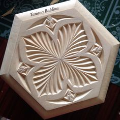 """""""Spread your wings, butterfly"""" (chip carving, pattern by Tatiana Baldina) Instagram.com/tatbalcarvings"""