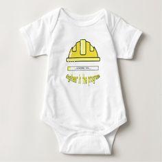 Engineer in the progress baby bodysuit. #babystore #babyclothes #babywearing #babygifts #gifts #giftsideas #zazzle #buyonline