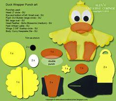 Alex's Creative Corner: Spring Duck Curvy Keepsake Instructions