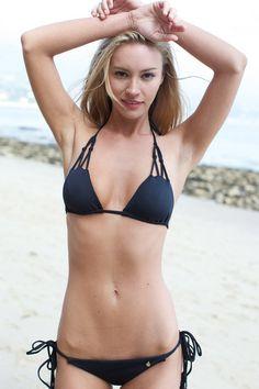 The Girl and The Water - Bettinis - Chloe Bikini Top / Black Sand - $70