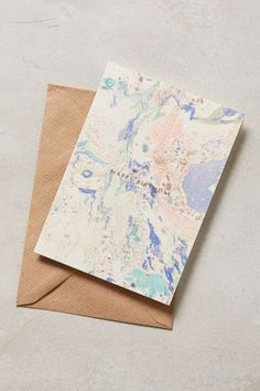 Marbled Happy Birthday Card #anthrofave #anthropologie.com