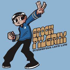 Spock Pilgrim T-Shirt....fascinating