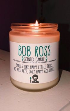Candles are therapeutic. My New Room, My Room, Happy Vibes, Bob Ross, Mellow Yellow, Cute Gifts, Gag Gifts, Candle Jars, Diy Candles