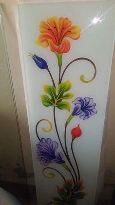 Window Glass Design, Frosted Glass Design, Frosted Glass Door, Glass Etching Designs, Glass Painting Designs, Paint Designs, Stained Glass Patterns, Stained Glass Art, Wall Showcase Design