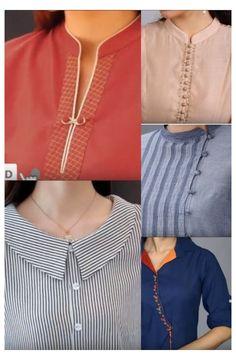 Chudidhar Neck Designs, Neck Designs For Suits, Sleeves Designs For Dresses, Neckline Designs, Dress Neck Designs, Kurti Back Neck Designs, Simple Kurta Designs, New Kurti Designs, Churidar Designs