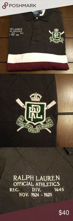 """Polo Ralph Lauren custom fit rugby medium Polo Ralph Lauren custom fit rugby medium. Ralph Lauren Athletics embroidery and a large """"3"""" patch on the back. Polo by Ralph Lauren Shirts"""