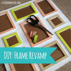 In this article I'm going to show you some Lovely DIY Photo Frame Crafts That Are Easy To Make. Photo Frame Crafts, Wall Art Crafts, Crafts To Do, Crafts For Kids, Diy Crafts, Cardboard Box Crafts, Diy Presents, Diy Frame, Diy Photo