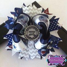 Cowboys Diva Chevron OTT Boutique Bow  by KylasKoutureBowtique, $10.00
