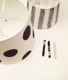 DIY: Pintar tus propias lámparas con un marcador : x4duros.com