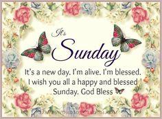 Daveswordsofwisdom.com: Have a Blessed Sunday.