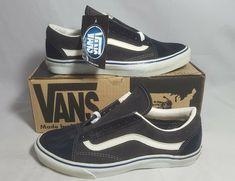 dc6ef9c4fe79 Vintage Vans OLD SKOOL NAVY CHARCOAL SUEDE made USA Men s Size 10.5 NOS SK8  HI Vans